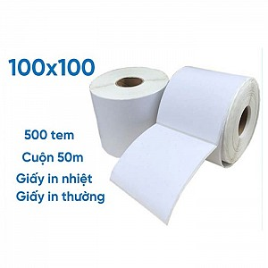 GIẤY DECAL 1 TEM 100X100MM