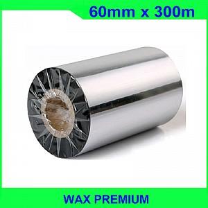 Ruy băng mực in mã vạch wax premium 60mm x 300m